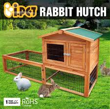 Rabbit Hutch Wood Rabbit Hutch Wooden Chicken Coop Guinea Pig Ferret Cage Hen House