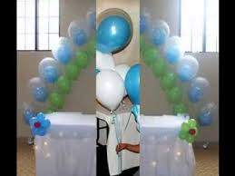 Home Balloon Decoration Simple Baby Shower Balloon Decor Ideas Youtube