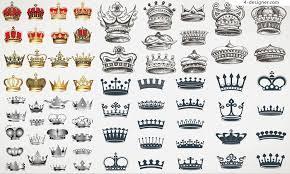 4 designer exquisite european crown design vector material