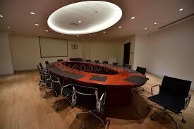 Round Table Meeting Big Round Table Meeting Room Stock Photo Image 68255617