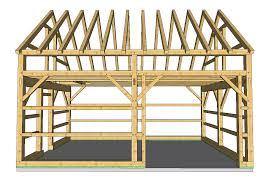 16 x 24 timberframe kit groton timberworks 24 30 post and beam pavilion plan pavilion beams and garage workshop