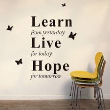 online get cheap inspirational quotes wall decals aliexpress com learn from today inspirational quotes wall stickers kids room living room bedroom home decor