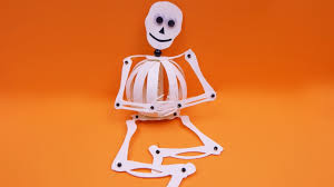 Halloween Skeleton Pattern by How To Make A Paperball Skeleton Halloween Decoration Diy