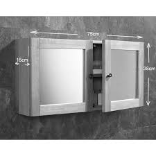 Bathroom Wall Cabinet Mirror by Pre Assembled Solid Oak Glass Wall Cabinet With A Twist