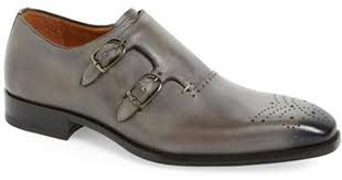 light grey dress shoes lyst mezlan gris double monk strap shoe in gray for men