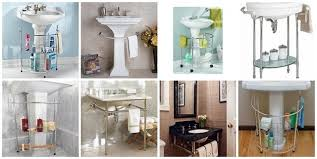 bathroom sink storage ideas pedestal sink storage cabinet not sure i ll need this