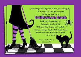 Halloween Party Invitations Wording Cimvitation