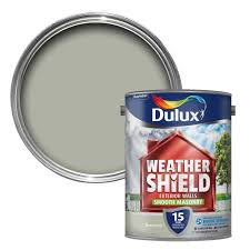 dulux weathershield green ivy smooth matt masonry paint 5l