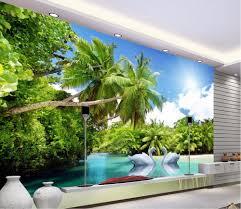 theme wall 3d wall stiker swan lake theme 3d wall painting mahe island
