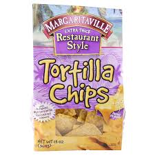 margaritaville home decor margaritaville extra thick restaurant style tortilla chips 13 oz