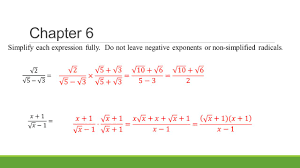 algebra ii h final exam review chapters 6 7 8 9 10 ppt download