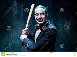 bloody halloween theme crazy joker face stock photo image 77293315