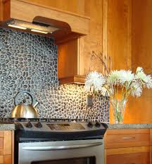 mosaic kitchen backsplash kitchen design sensational metal backsplash black and white