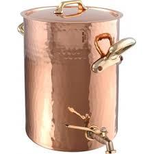 robinet cuisine cuivre mauviel 2157 bain à potage en cuivre intérieur étamé monture