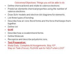 list please predict who the chemical bonding the most important property of an is how it