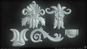 plaster wall with ornate wood trim polycount