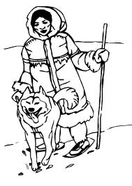 eskimo clipart coloring pencil and in color eskimo clipart coloring
