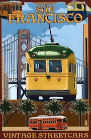 vintage streetcars san francisco postcard jpg 490 750 old