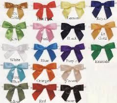 pre bows satin twist tie pre bows 18 colors