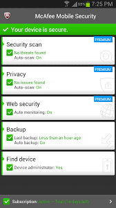 mcafee mobile security apk mcafee security power booster for android