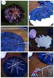 halloween paper plate craft paper plate spider web craft