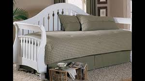 White Metal Daybed With Trundle Bed Metal Trundle Bed Frame Daybed Furniture Size Daybed