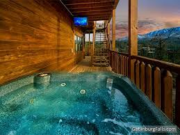 6 bedroom cabins in pigeon forge view from one of the hot tubs on the 3 level deck of cherokee s