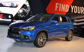 mitsubishi outlander sport 2016 blue mitsubishi launches refreshed 2016 rvr and 2017 mirage in l a