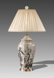 precious a pair of porcelain antique table lamp with blue white