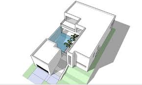 the architect modern house with floor plan