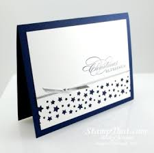stampin u0027 up confetti star punch handmade christmas card