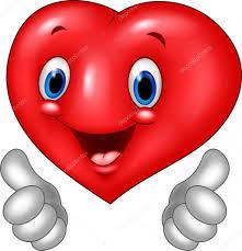 imagenes animadas sobre amor dibujos animados corazón amor dando pulgar arriba aisladas sobre