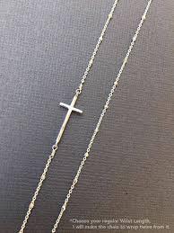 silver sideways cross bracelet minimalism christian jewelry