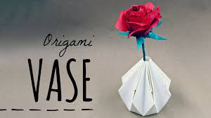 Simple Origami Vase - how to make an origami vase tadashi mori