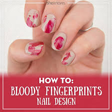 add some halloween fright to your nails with a chic bloody