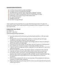 Electrician Job Resume by Garry Resume Red Seal Industrial Electrician