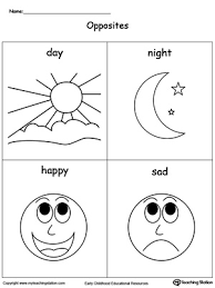 preschool position and direction printable worksheets