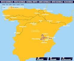Salamanca Spain Map by National Routes Bus Spain Monbus