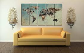 Vintage World Map Canvas by World Map Large World Map Abstract World Map Push Pin World Map