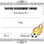 football certificate templates free 30 soccer award certificate