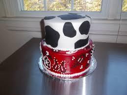 western themed baby shower cake in fondant thecakebaker