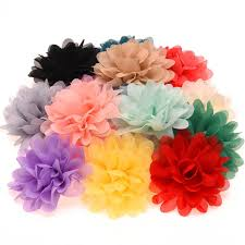 flower accessories aliexpress buy 16pcs chiffon flowers high quality rosette