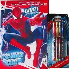 spiderman coloring book 4 piece pop pencil spider man