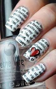 best 20 newspaper nail art ideas on pinterest nail tutorials