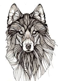 khs digital media arts cool and detailed wolf drawing
