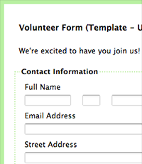 volunteer report template formassembly forms