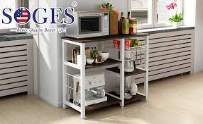 kitchen pantry storage cabinet microwave oven stand with storage soges 3 tier kitchen baker s rack utility microwave oven stand storage cart workstation shelf w5s b
