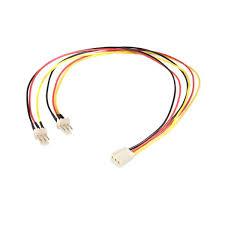 chassis fan connector splitter startech com splitter cable tx3 fan power 12in by office depot