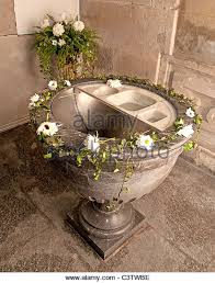 baptismal basin baptismal font catholic church stock photos baptismal font