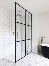 Frame Shower Door Bathroom Of The Week Steel Frame Shower Doors In A Fanciful